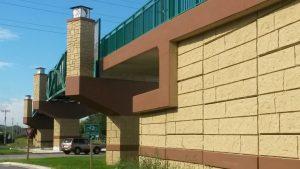 brown and green bridge