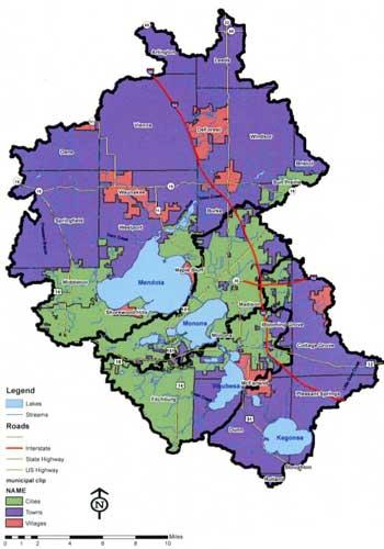 Map Yahara Watershed
