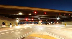 traffic signals at night